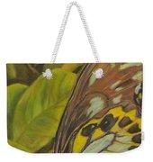 Butterfly On Leaves Weekender Tote Bag