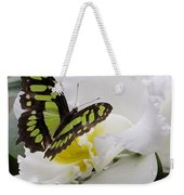 Butterfly On Orchid Weekender Tote Bag