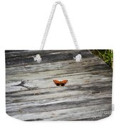Butterfly On The Dock Weekender Tote Bag