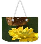 Butterfly On Yellow Weekender Tote Bag