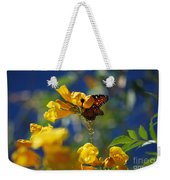 Butterfly Pollinating Flowers  Weekender Tote Bag
