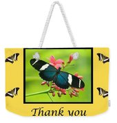Butterfly Thank You Card Weekender Tote Bag