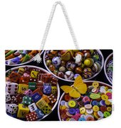 Butterfly With Bowls Weekender Tote Bag