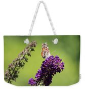 Butterfly With Flowers Weekender Tote Bag
