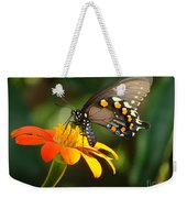 Butterfly With Orange Flower Weekender Tote Bag