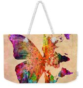 Butterfly World Map  Weekender Tote Bag