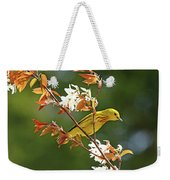 Buttery Yellow Warbler Weekender Tote Bag