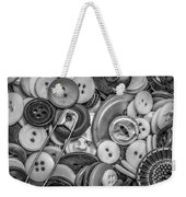 Buttons In Black And White Weekender Tote Bag