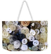 Buttons In Grunge Style Weekender Tote Bag