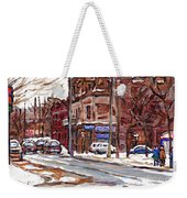 Buy Original Paintings Montreal Petits Formats A Vendre Scenes De Pointe St Charles Cspandau Artist Weekender Tote Bag