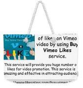 Buy Vimeo Likes Weekender Tote Bag