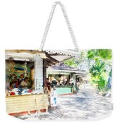 Buying Items In These Shops On The Street Weekender Tote Bag