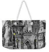 Bw Prague Charles Bridge 02 Weekender Tote Bag