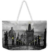 Bw Prague Charles Bridge 04 Weekender Tote Bag
