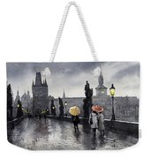 Bw Prague Charles Bridge 05 Weekender Tote Bag