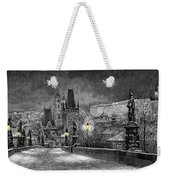 Bw Prague Charles Bridge 06 Weekender Tote Bag