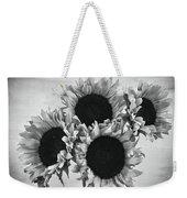 Bw Sunflowers #010 Weekender Tote Bag