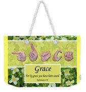 By Grace Weekender Tote Bag