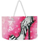 By Pink Design By Madart Weekender Tote Bag by Megan Duncanson