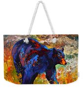By The River - Black Bear Weekender Tote Bag