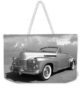 Bygone Era - 1941 Cadillac Convertible In Black And White Weekender Tote Bag