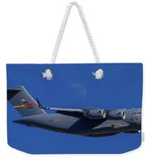 C-17 Globemaster IIi And The Moon Weekender Tote Bag