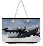 C-17 Globemaster IIi Poster Weekender Tote Bag