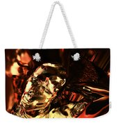 The Thinking Golden Robot Weekender Tote Bag