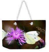 Cabbage Butterflies On Spotted Knapweed Weekender Tote Bag