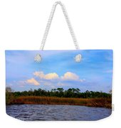 Cabbage Palms And Salt Marsh Grasses Of The Waccasassa Preserve Weekender Tote Bag