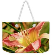 Cabbage White Butterfly On Day Lily Weekender Tote Bag