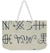 Cabbalistic Signs And Sigils, 18th Weekender Tote Bag