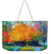 Cabin In Park Weekender Tote Bag