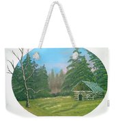 Cabin In The Meadow Weekender Tote Bag