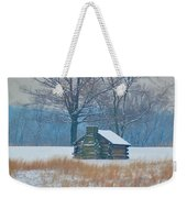 Cabin In The Snow - Valley Forge Weekender Tote Bag