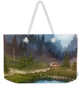 Cabin Retreat Weekender Tote Bag