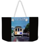 Cable Car 18 Heading Up The Hyde Street Line Weekender Tote Bag