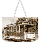 Cable Car Weekender Tote Bag