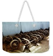Cable Car Wheels, Repair Shop Weekender Tote Bag