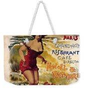 Cabourg - Paris - Grand Hotel - Vintage Restaurant Advertising Poster Weekender Tote Bag