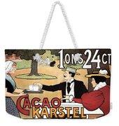 Cacao Karstel - Vintage Cacao Advertising Poster Weekender Tote Bag