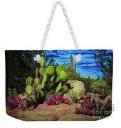 Cacti And Rock Weekender Tote Bag