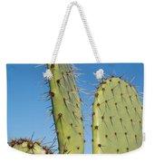 Cactus Against Blue Sky Weekender Tote Bag