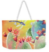 Cactus And Firefly Weekender Tote Bag