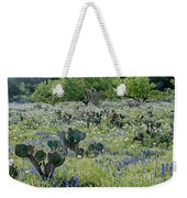 Cactus And Willow-wildflowers Of Texas Weekender Tote Bag
