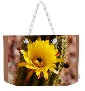 Cactus Bloom Yellow 050914a Weekender Tote Bag