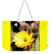 Cactus Blooms Yellow 050214g Weekender Tote Bag