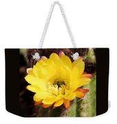 Cactus Blooms Yellow 050214k Weekender Tote Bag