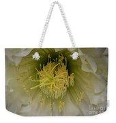 Cactus Flower Macro Weekender Tote Bag