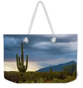 Cactus Sunset Saguaro National Park Arizona Weekender Tote Bag